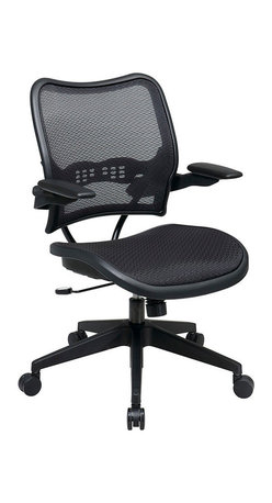 Office Star - Space Seating 13 Series Deluxe AirGrid Seat & Back Chair w/ Cantilever Arms - Deluxe AirGrid Seat & Back Chair w/ Cantilever Arms belongs to 13 Series Collection by Space Seating Deluxe AirGrid Seat and Back Chair with Cantilever Arms. Pneumatic Seat Height Adjustment. 360 Degree Swivel. 2 to 1 Synchro Tilt. Tilt Tension and Tilt Control. Office Chair (1)