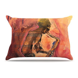 """Kess InHouse - Josh Serafin """"Catch the Wind"""" Orange Red Pillow Case, King (36"""" x 20"""") - This pillowcase, is just as bunny soft as the Kess InHouse duvet. It's made of microfiber velvety fleece. This machine washable fleece pillow case is the perfect accent to any duvet. Be your Bed's Curator."""