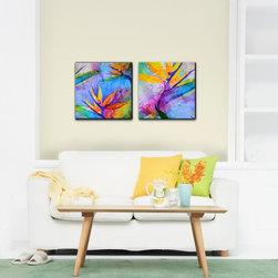 Ready2hangart - Alexis Bueno 'Tropical Birds of Paradise' Canvas Wall Art (Set of 2) - Artist: Alexis BuenoTitle: Tropical Birds of ParadiseProduct type: Gallery wrapped canvas art
