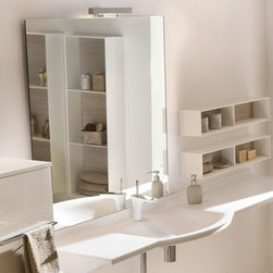 Ambiance Bain - Ambiance Bain   Tempo Vanity - Made in France by Ambiance Bain.A part of the Tempo Collection. This Tempo Vanity makes a striking statement in modern bathrooms. This sink and mirror combination vanity provides a simple yet powerful addition to luxury bathrooms. The solid construction and reliable materials ensure that this vanity will withstand the test of time. Available in a variety of color and size options.Product Features: