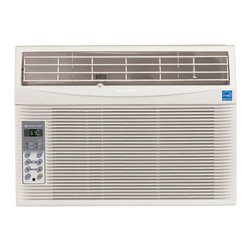 Sharp - Sharp AFS100RX Energy Star 10,000 BTU 115-Volt Window-Mounted Air Conditioner - The Sharp AFS100RX 10,000 BTU 115-Volt Window-Mounted air conditioner provides cool comfort all summer long for rooms 325 to 580 square feet. Sharp's comfort touch controls have a 24-hour on/off timer and one-degree temperature control increments eliminating temperature guesswork. The rest easy remote control enables you to turn the unit on or off, adjust the temperature, change the fan speed and set the timer all with the touch of a button from across the room. With 3 cooling speeds, 3 fan speeds and 4-way air direction, you choose how to cool your room. Auto-cool adjusts the fan speed from powerful cooling when the demand is high to quiet comfort when the demand is low. When the optimal temperature is met, the fan and compressor stops with the energy saver mode. Sleek and stylish, Sharp's air conditioner will fit into your home design beautifully, enhancing your decor.