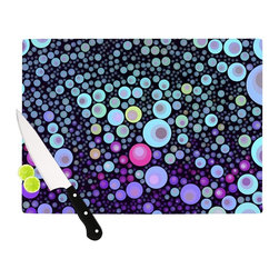 """Kess InHouse - Sylvia Cook """"Deep Blue"""" Purple Aqua Cutting Board (11"""" x 7.5"""") - These sturdy tempered glass cutting boards will make everything you chop look like a Dutch painting. Perfect the art of cooking with your KESS InHouse unique art cutting board. Go for patterns or painted, either way this non-skid, dishwasher safe cutting board is perfect for preparing any artistic dinner or serving. Cut, chop, serve or frame, all of these unique cutting boards are gorgeous."""
