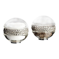 L'Objet - L'Objet Matte Platinum Braid Salt & Pepper Shakers Set of 2 - L'Objet is best known for using ancient design techniques to create timeless, yetdecidedly modern serveware, dishes, home decor and gifts. Platinum Plated Band Lead-Free Crystal Luxuriously Gift Boxed. Attention to detail is often what distinguishes any presentationfrom beautiful to memorable. These spice jewels will enrich any decor withtheir distinguishable handcrafted details. Setof 2.