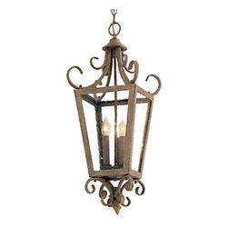 """Minka Lavery - Minka Lavery 7600 3 Light 27"""" Height Indoor Lantern Pendant - Three Light 27"""" Height Indoor Lantern PendantFeatures:"""