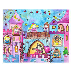 Oh How Cute Kids by Serena Bowman - Princess Hall, Ready To Hang Canvas Kid's Wall Decor, 20 X 24 - Your little princess will love this picture -  there is so much to look at and imagine with this picture - she will probably even name all of them and give a little story about each one!  I know my little princess does!