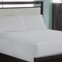 Wellrest Quilted Memory Foam Pad - Upgrade your mattress by topping it with the Wellrest Quilted Memory Foam Pad. This plush pad features spa therapy quilted memory foam to cradle you in comfort. It has a luxurious 300-thread count polyester and nylon face and diamond quilted top. A breeze to clean, this memory foam pad is machine-washable! It includes a knit skirt and 18-inch pocket depth to fit today's taller mattresses. Comes in your choice of size.Mattress Pad Dimensions:Twin: 38x75 in.Full: 54x75 in.Queen: 60x80 in.King: 78x80 in.