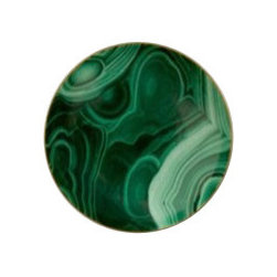 "L'Objet - L'Objet Perlee Malachite Small Dish - Inspired by the timeless elegance and enduring modernity of the pearl, Perlee is an expression of classic dinnerware. The collection is offered in solid white Limoges porcelain with meticulously hand-painted 24K gold or Platinum. Limoges Porcelain, Hand Gilded24k Gold Decorated. Made in Portugal. Dishwasher Safe on Delicate Setting. Not Microwave Safe. Dimensions: 5"" L'Objet is best known for using ancient design techniques to create timeless, yet decidedly modern serve-ware, dishes, home decor and gifts."