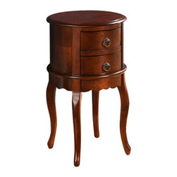 All Things Cedar - Twin Drawer Round Hall Table - Classic Accents: A truly inviting selection of Classic Accent Furniture FEATURING Console Sofa Tables Wooden Wine Magazine Racks, Nesting Tables, and Glass Cherry Curio Cabinates. Item is made to order.