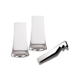 "Alessi - Alessi ""Splugen"" Beer Glass Gift Set - There are afternoons for drinking beer out of the bottle, and then there are those evenings when you really should serve it up in a glass. This handsome set allows you and your friends to keep it casual, then keep it classy."