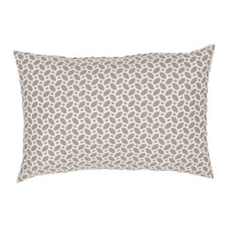 """Jaipur Rugs - Gray/Ivory color polyester odl little hipster poly fill pillow 13""""x18"""" - These fashion forward pillows, in trellis, stripes and whimsical patterns are for both indoor and outdoor use."""