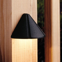 LANDSCAPE - LANDSCAPE 15065BKT Six Groove Mini Outdoor Deck Light - Versatile mini size and simple styling for multiple applications, available in a variety of finishes constructed of Brass or Aluminum.