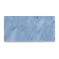 "Stone Center Corp - Carrara White Marble Subway Tile 3x6 Honed - Premium grade Carrara white marble tile 3"" width x 6"" length x 3/8"" thickness"