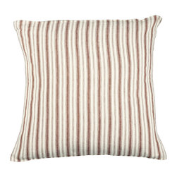 Libeco - Antibes Pillow Case, Old Red, King - The Antibes collection was inspired by old Dutch sail boats and has a slightly vintage feel about it.  Choice of Old Red or Navy.