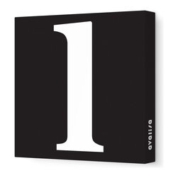 "Avalisa - Letter - Lower Case 'l' Stretched Wall Art, 28"" x 28"", Black - Spell it out loud. These lowercase letters on stretched canvas would look wonderful in a nursery touting your little one's name, but don't stop there; they could work most anywhere in the home you'd like to add some playful text to the walls. Mix and match colors for a truly fun feel or stick to one color for a more uniform look."