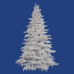 "Vickerman A893681LED 9' x 67"" Prelit LED Flocked Spruce Christmas Tree - Get 10% discount on your first order. Coupon code: ""houzz"". Order today."