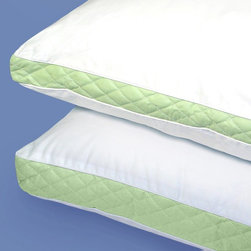 Wellrest - Wellrest Quilted Sidewall Pillow Multicolor - 096-338-01-10-023-01 - Shop for Pillows from Hayneedle.com! The quilted sidewall on this Wellrest Quilted Sidewall Pillow offers extra support right where you need it. This pillow comes in your choice of medium firm or extra firm and your choice of size. It's ideal for side sleepers and is filled with polyester fiber and has sateen cotton ticking. Machine-washable and dryable for convenience.Pillow Dimensions:Standard: 20x26 in.Queen: 20x30 in.King: 20x36 in.