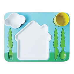 "DOIY Landscape Kids Dinner Set - Here's a clever ""puzzle"" tray that I really like."