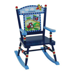 Levels of Discovery - Levels of Discovery Getting Around Rocker - LOD60000 - Shop for Childrens Rocking Chairs from Hayneedle.com! Kids are always on the move and the child-sized Getting Around Rocker will give your little one a place to rest while still celebrating his love of getting places. Made from sturdy wood and hand painted in bold primary colors this rocker features detailed pictures and words of different modes of transportation to help your child learn to read about all his favorite planes trains and tractors.