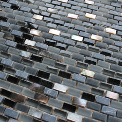 Dal Mare Lava Stone, Glass, and Shell Mosaic Tiles, 10 Square Feet - Introducing Lava from the Dal Mare shell, stone, and glass mosaic tiles. A darker mix of matte and high gloss glass, stone, and shell mosaics.