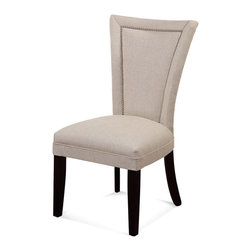 Bassett Mirror Company - Bassett Mirror Flair Nailhead Parsons Chair [Set of 2], Natural Linen - Flair Nailhead Parsons Chair belongs to Parson Chair Collection by Bassett Mirror Company The Parsons Chair is constructed using solid hardwood and durable stain resistant leather. Available in Grey, Turquoise, Khaki or Natural Linen. Parson Chair (2)