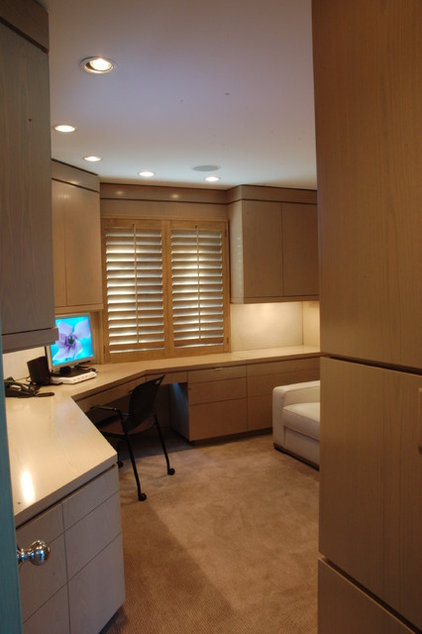 Contemporary Home Office by B. W. Interiors Chicago