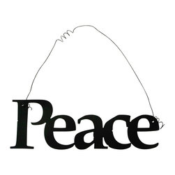Inspirational Word PEACE Wall Hanging Home Decor Metal - This listing is for one inspirational word, PEACE