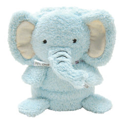 foufoubaby - My Pet Blankie™ - Elliott the Elephant - This 3-in-1 blanket and plush toy is a new and innovative roll-up plush blanket that transforms into a cute plush toy; huggable and lovable for infants and children of all ages. When unrolled, the blanket is made of hypoallergenic, snuggly soft, fleecy material that is completely machine-washable and stuffing free.