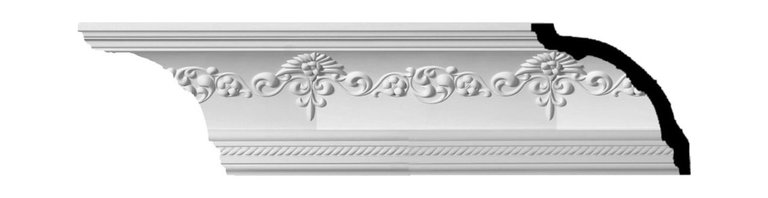 """Ekena Millwork - 6 1/4""""H x 6 1/4""""P x 8 7/8""""F x 94 1/2""""L, (11 3/4"""" Repeat), Sydney Crown Moulding - 6 1/4""""H x 6 1/4""""P x 8 7/8""""F x 94 1/2""""L, (11 3/4"""" Repeat), Sydney Crown Moulding. Our beautiful panel moulding and corners add a decorative, historic feel to walls, ceilings and furniture pieces- They are made from a high-density urethane which gives each piece the unique details that mimic that of traditional plasting and wood designs but at a fraction of the weight- This means a simple and easy installation for you- The best part is that you can make your own shapes and sizes by simply cutting the moulding pieces down to size and then butting them up to the decorative corners- These are also commonly used for an inexpensive wainscot look-Features- Modeled after original historical patterns and designs-- Constructed from solid urethane for maximum durability and detail-- Lightweight for quick and easy installation-- Factory-primed and ready for paint or faux finish-- Can be cut, drilled, glued and screwed-- Designed for use on both interior and exterior applications-- Material- Urethane"""