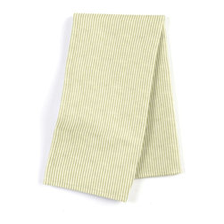 "Light Green Pinstripe Custom Napkin Set - Our Custom Napkins are sure to round out the perfect table setting""""_whether you're looking to liven up the kitchen or wow your next dinner party. We love it in this light green & ivory woven cotton pinstripe for a preppy classic accent."