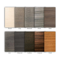 Cabinet Finish Options - Terra style door finishes (thermal structured surface)