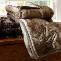 Ombre Faux-Fur Throw - These irresistibly plush and soft throws make a perfect accent piece when draped over a couch or folded at the foot of your bed. Add a customized monogram for even more glam.