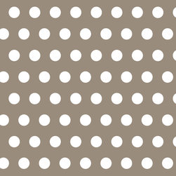 Murals Your Way - Polka Dots - Warm Gray Wall Art - Painted by Simon & Kabuki, Polka Dots - Warm Gray wall mural from Murals Your Way will add a distinctive touch to any room