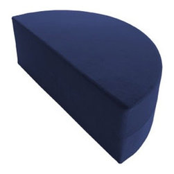 "OneUp Innovations, Inc - Moz Half Round 44"" x 22"" x 17"" Foam Seating - Microsuede Navy - Moz Rounds are a series of forms creating striking wall treatments, modular seating areas and coffee table-like surfaces.  Half rounds are useful for creating seating backs - quarter rounds add architectural scallops on top of any Moz wall system installation.  Perfect for architects and designers looking to explore new ground and bring a three-dimensional wall surface as well as a topographic design to any large space environment.  Mix and match 14 and 17-inch high units to provide a recessed design and seating for people of all sizes.  Moz is ideal for that vacant wall begging for art."