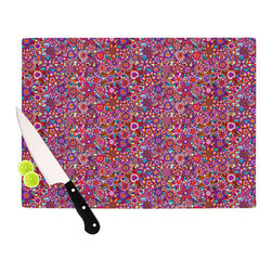 "Kess InHouse - Julia Grifol ""My Dreams in Color"" Pink Stars Cutting Board (11"" x 7.5"") - These sturdy tempered glass cutting boards will make everything you chop look like a Dutch painting. Perfect the art of cooking with your KESS InHouse unique art cutting board. Go for patterns or painted, either way this non-skid, dishwasher safe cutting board is perfect for preparing any artistic dinner or serving. Cut, chop, serve or frame, all of these unique cutting boards are gorgeous."
