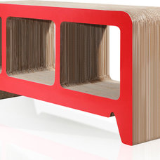 Modern Buffets And Sideboards Georgia Red Cardboard Sideboard