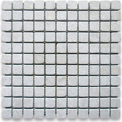 """Stone Center Online - Seagrass 1 x 1 Square Mosaic Tile Tumbled - Limestone from Turkey - Premium Grade Turkish Limestone Seagrass Tumbled 1x1"""" Mosaic Wall & Floor Tiles are perfect for any interior/exterior projects such as kitchen backsplash, bathroom flooring, shower surround, countertop, dining room, entryway, corridor, balcony, spa, pool, fountain, etc. Our large selection of coordinating products is available and includes hexagon, herringbone, basketweave mosaics, field, subway tiles, moldings, borders, and more."""