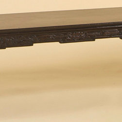 Rare Lacquered Chinese Kang or Bench with Scroll Feet - Rare Lacquered Chinese Kang or Bench with Scroll Feet