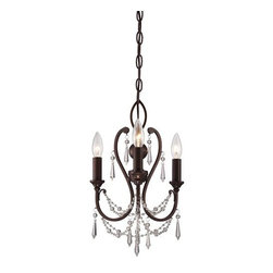 "Minka Lavery - Minka Lavery 3138-284 3 Light 1 Tier 11.5"" Width Mini Chandelier - Three Light Single Tier 11.5"" Width Mini ChandelierFeatures:"
