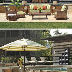 Outdoor Furniture For Oceanfront Houses - The Summer Classics Royan collection is durable enough to last throughout harsh ocean environments. If you're looking for new outdoor furniture set for your beach space you've found it!