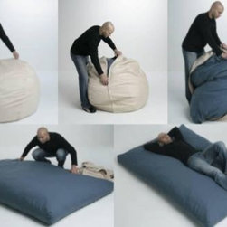Beanbag Beds - An entire range of beanbags that unzip to feature a twin, full, or queen size mattress. Now here's a perfect way to use that spare bedroom!