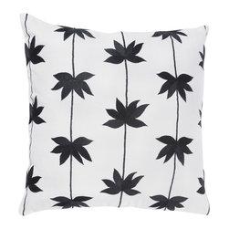 """Black Off White 18"""" x 18"""" Pillow  Set of 2 - *18"""" x 18"""" Pillow with Hidden Zipper"""