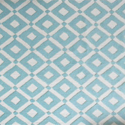 The Rug Market - CHARTER BLUE ,Area Rug ,size   7X10 - This contemporary rug is made of UV Poly and will surely add color to any space