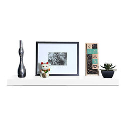 Welland - Chicago Floating Shelf, 24-Inch - This bracket-less shelf is ready to lift whatever floats your boat. The clean edges won't distract from whatever's on top, letting your treasures take center stage. Use it to display your collection of cookbooks or spell out names and messages in a kid's room. Clutter be gone!