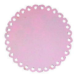 Jubilee Collection - Round Dot Magnet Board - Pink - Material: metal. 20 x 20 in.