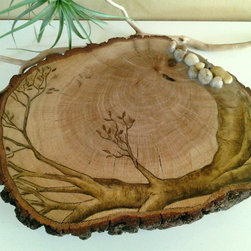 TREE OF LIFE - Original artwork on tree trunk slice - TREE OF LIFE - ORIGINAL Artwork design (ONE OF A KIND PIECE).. Cannot be duplicated...
