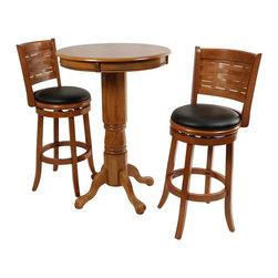 Boraam - Boraam Florence 3 Piece Pub Set in Brush Oak - Boraam - Pub Sets - 7114241029PKG
