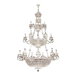 James R Moder - 94114S22-88 James R Moder Princess Chandelier - In most designs, the major cost of a Crystal Chandelier is the price of the Crystal components. The quantity and shapes of the Crystal utilized to trim the Chandelier and most importantly, as in grades of diamonds, the crystal quality determines the price. James R Moder  Crystal offers IMPERIAL Crystal trim