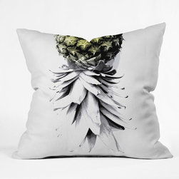 Deb Haugen Pineapple 1 Outdoor Throw Pillow - The monochromatic design of this pineapple motif works perfectly with its strategic pop of color. I'm sure we'll all be seeing more of that yellowy-green in 2015, so this throw pillow is perfect for a small touch of current style.