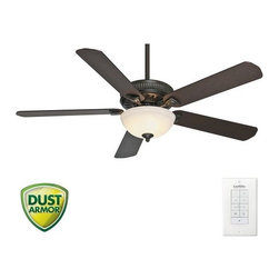 "Casablanca - Casablanca 55007 Ainsworth 60"" 5 Blade Ceiling Fan - Blades, Light Kit, and Wall - Included Components:"