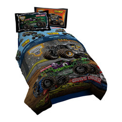 Jay Franco - Monster Jam Twin Comforter - Contains (1) Twin Size Bed Comforter